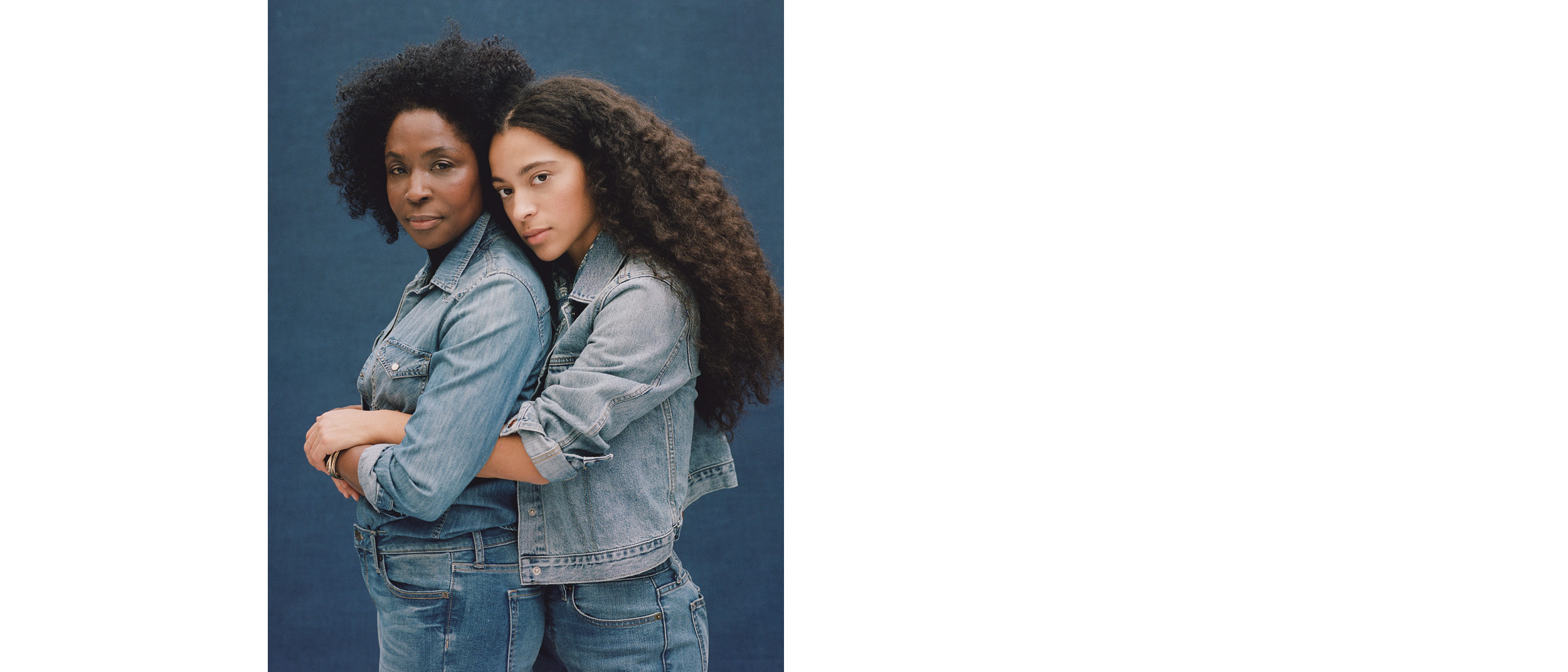 Art Direction: Sami Barker  Models: Zora Casebere and Lorna Simpson  Stylist: Eddie Oh  Hair Stylist: David Colvin  Makeup: Ren Nobuko