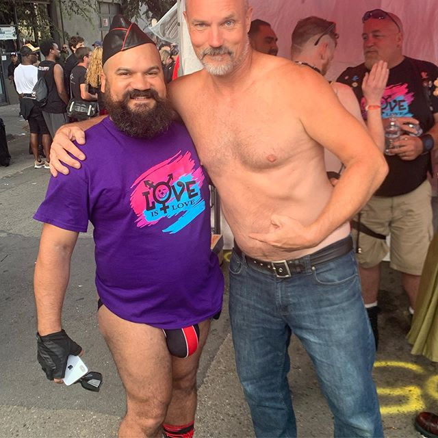 This guy literally got the shirt off Dave's back at the end of the day Folsom. We love us some Tony Vega! @tonyvegaxxx #LoveIsLove