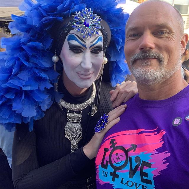 Always great to see @sister_roma out n about.  #themostphotographednunintheworld #LoveIsLove