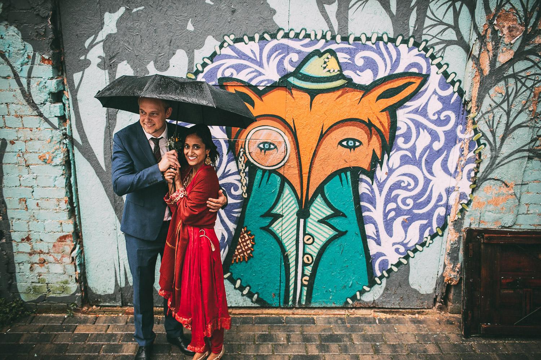 graffiti wedding fox
