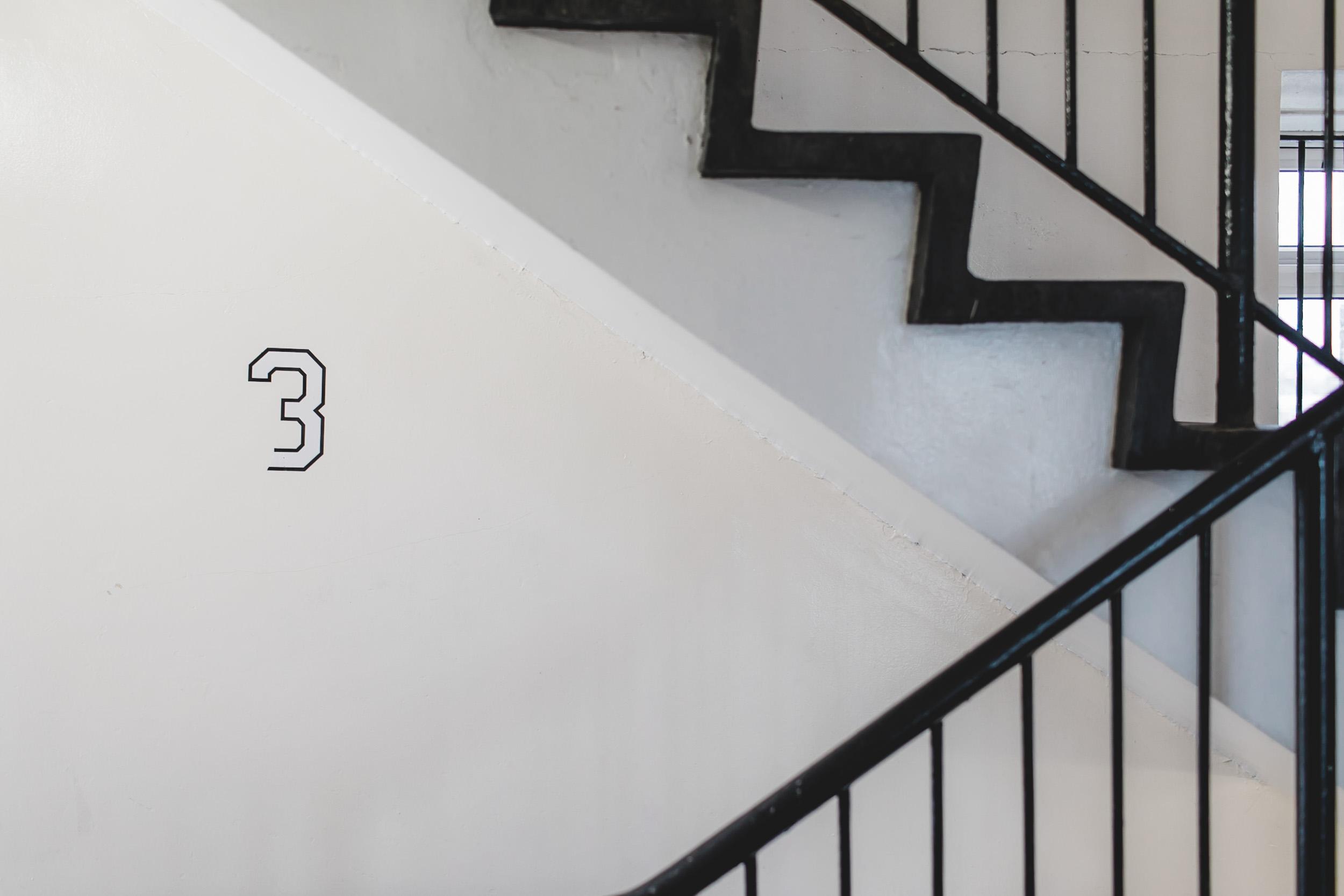 Flat stairwell bethnal green