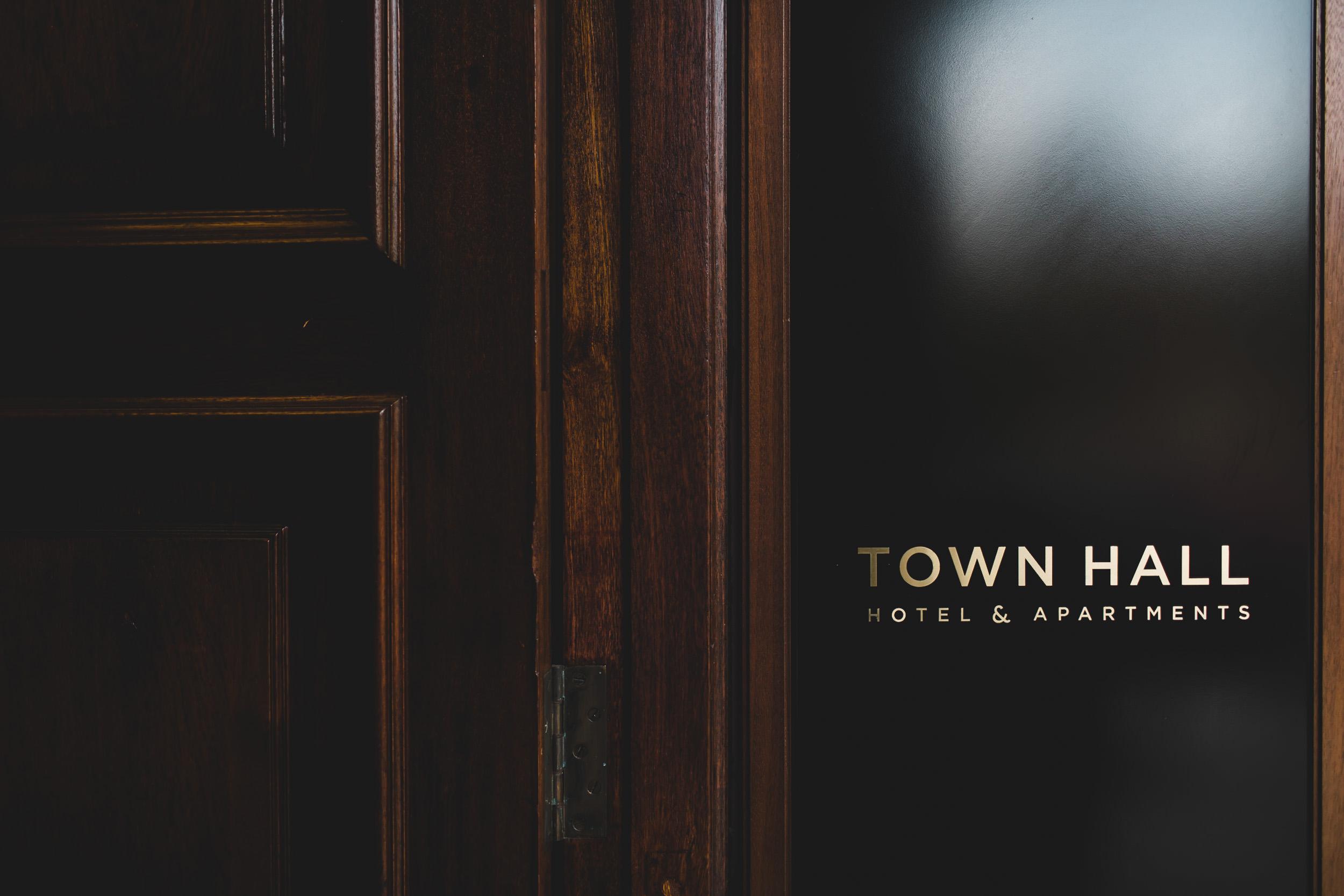 town hall hotel front door livery