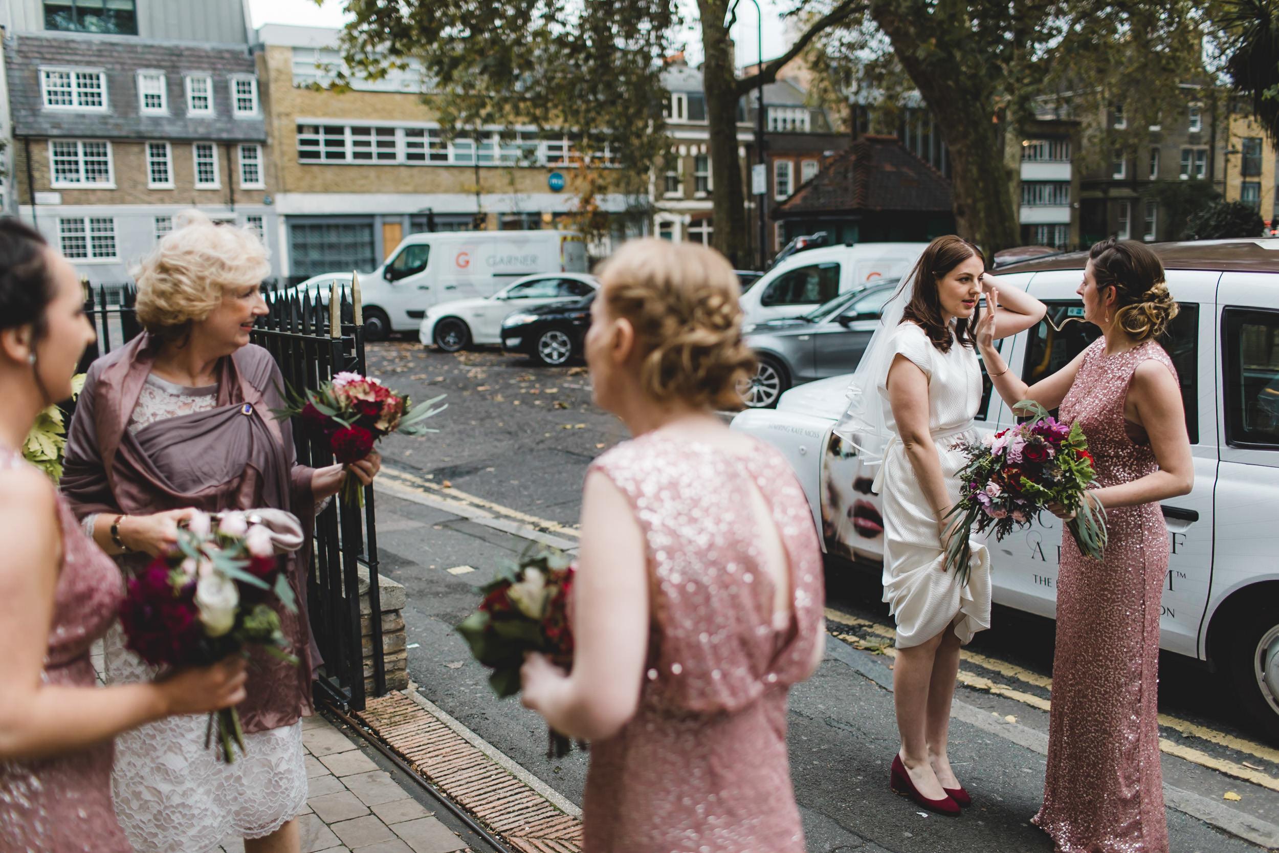 final bride adjustments pre ceremony