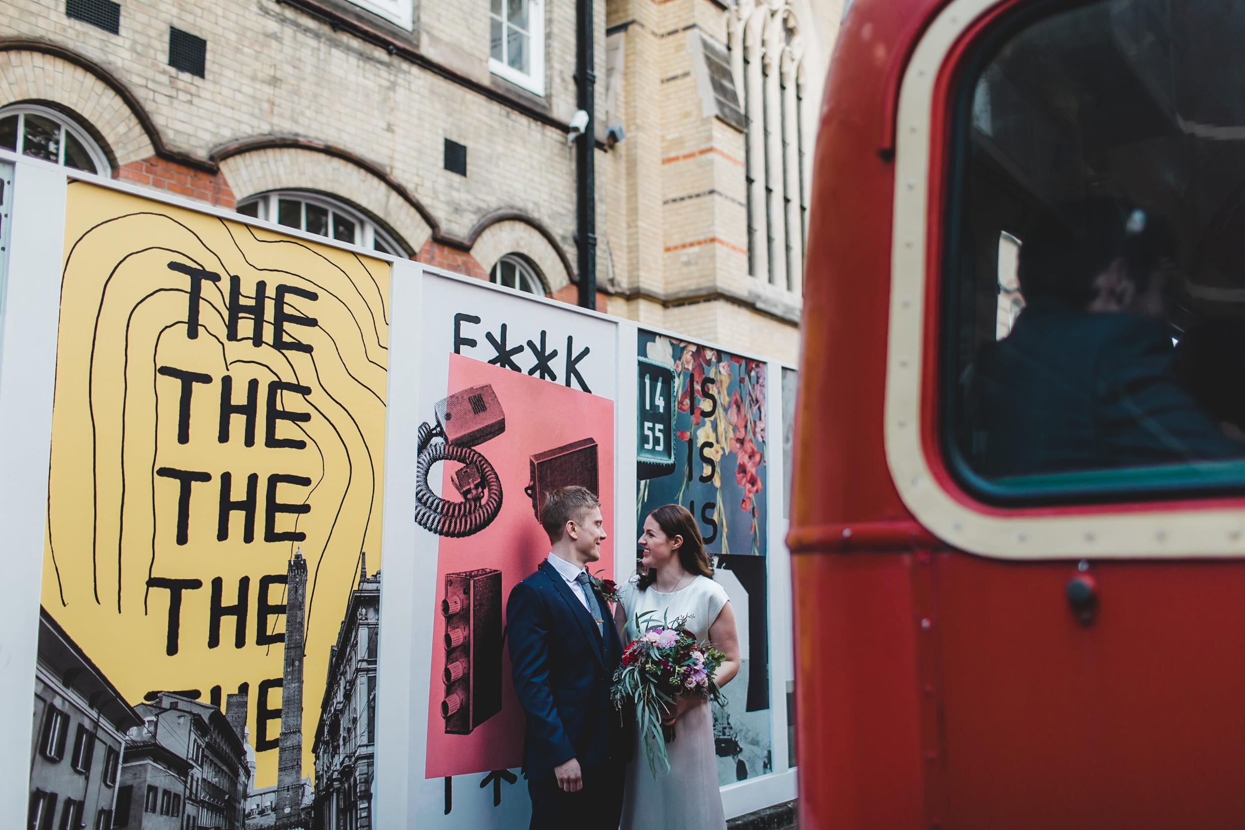 wedding portrait hoxton square building site