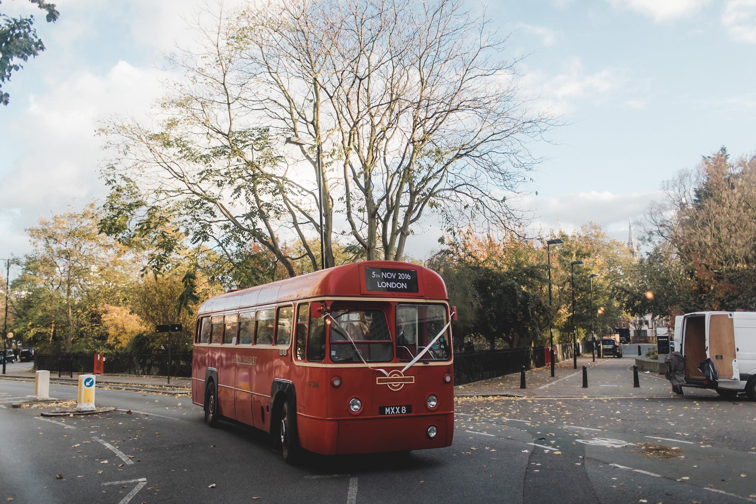single decker london bus