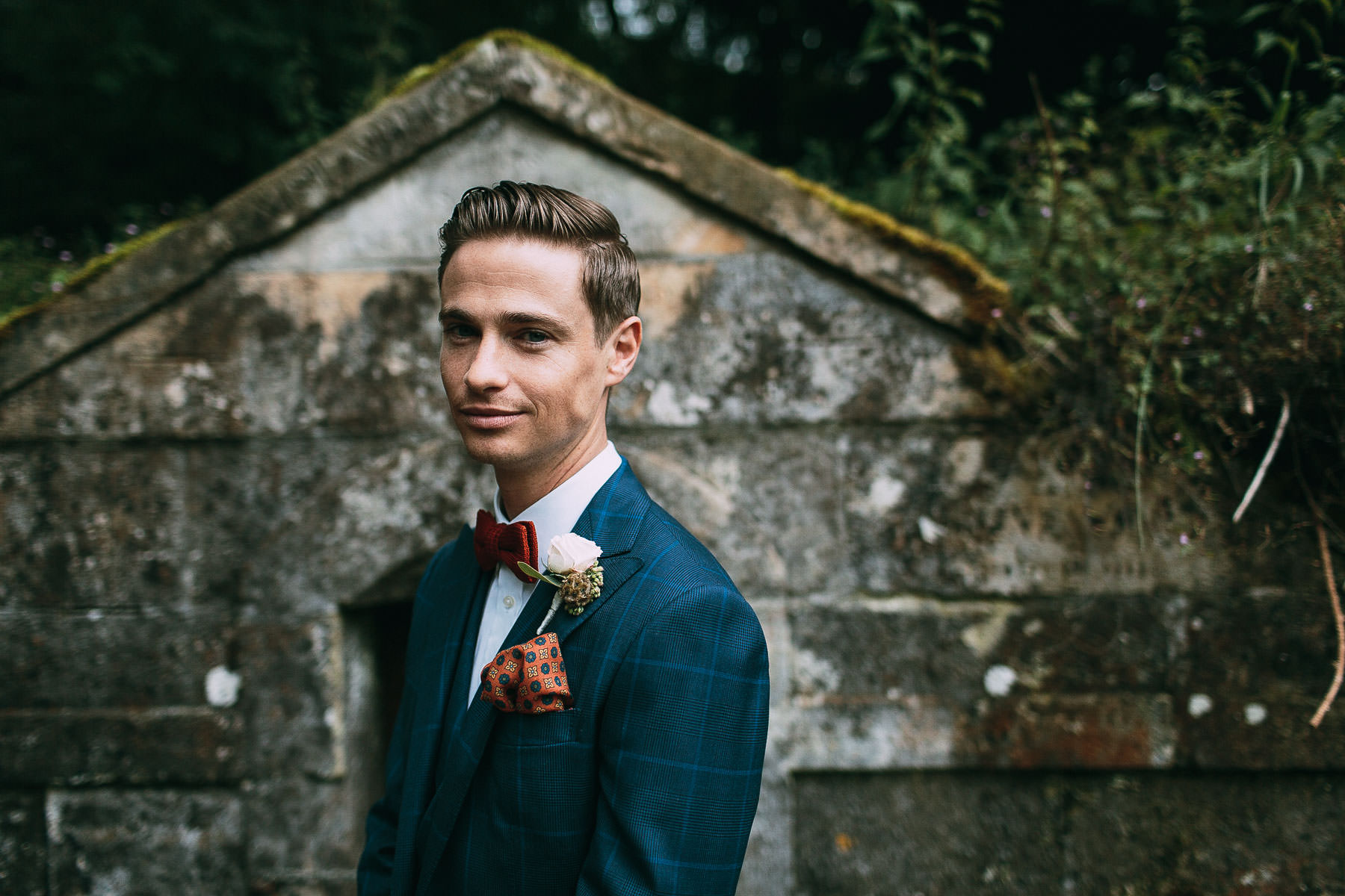 dapper groom at natural retreats