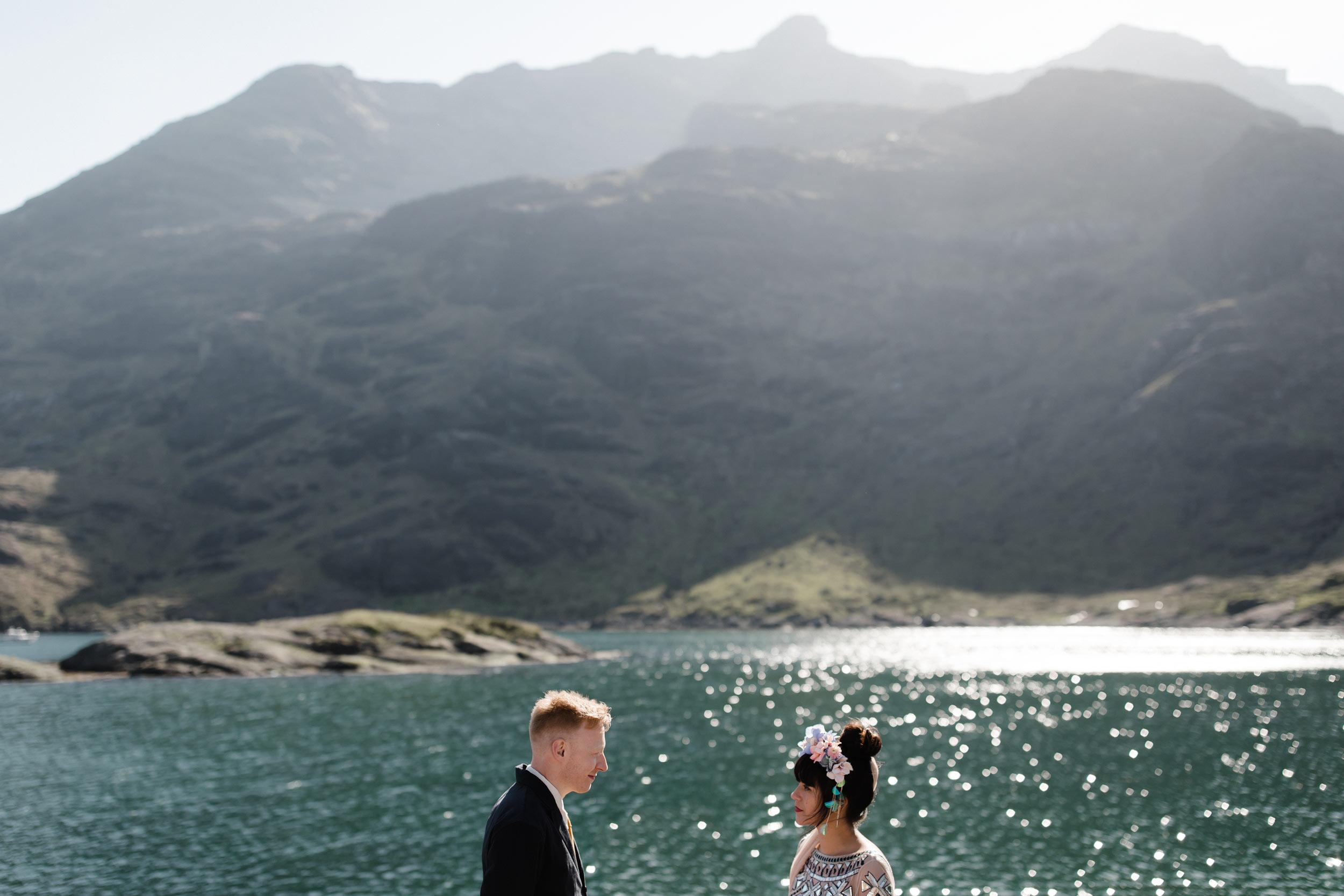 Isle of Skye wedding Loch Coruisk Skeabost Memorial Hall