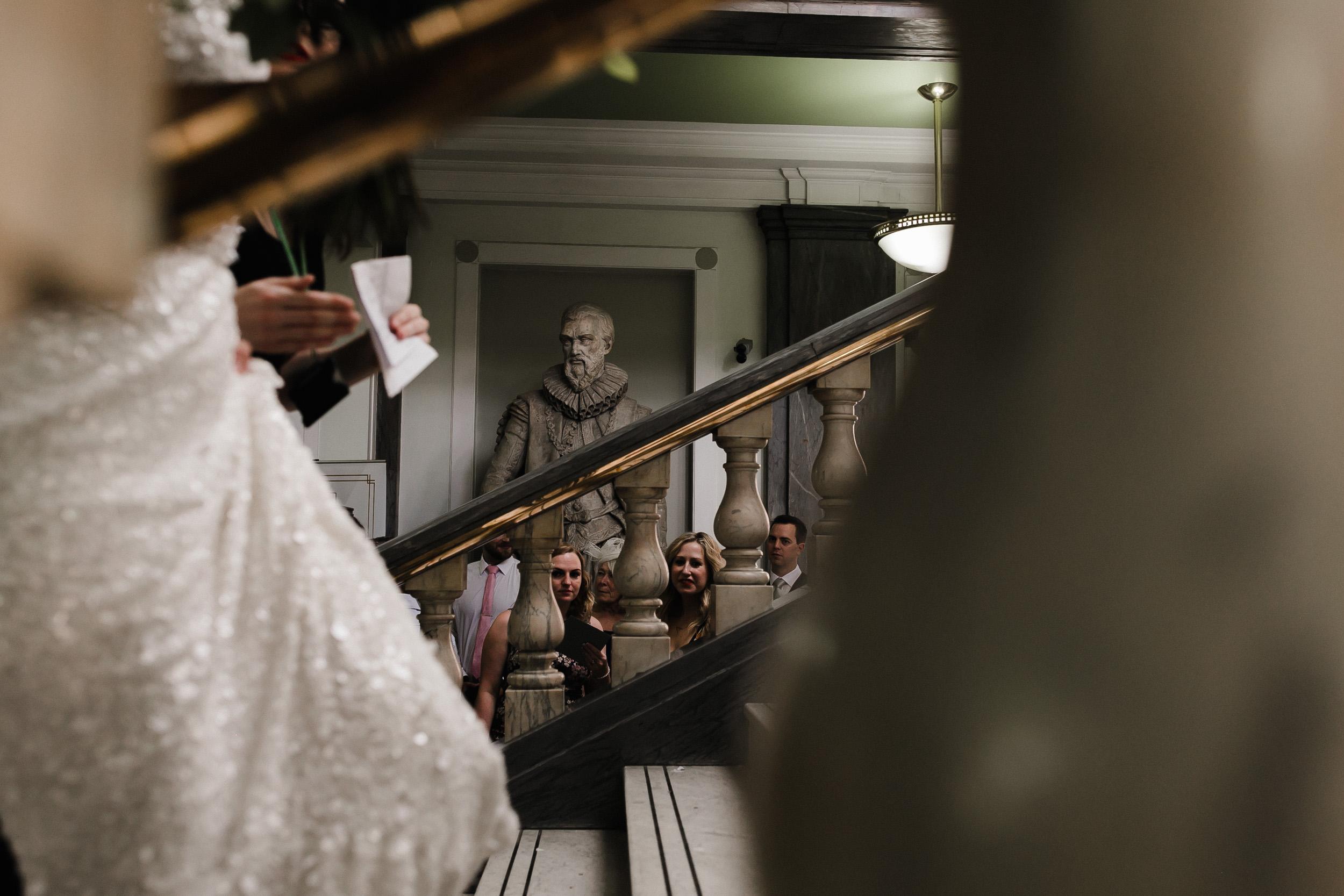 islington town hall staircase wedding