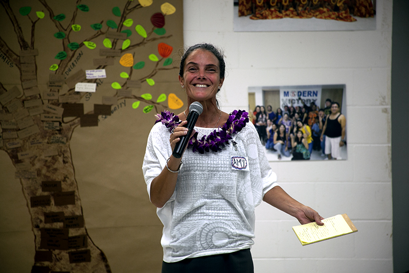 Amy Perruso at the O'ahu People's Congress Island Forum