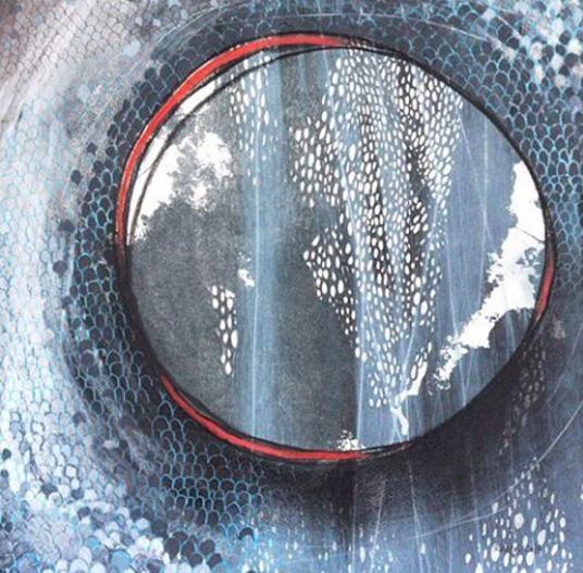 """Arrival"", mixed media from Luna Series, Raina McDonald"