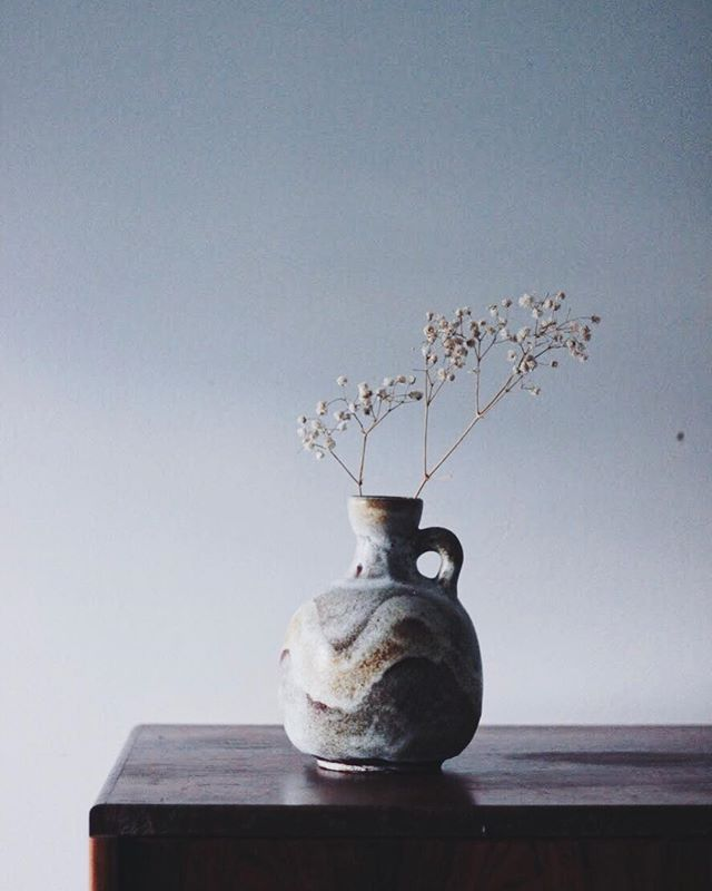 Sprig has been around for 5+ years. ⠀ ⠀ Vase has been around for 50+ years. .⠀ .⠀ .⠀ #inpraiseofslowness #superslowlife #pottery #keramik  #vintagepottery #kinfolk #simplicity #ceramicdesign #minimaldesign #interiordesign #scandidesign #moderninterior #designermaker #handmademodern #stoneware #home #sustainableliving #design #germandesign #minimalist #minimal