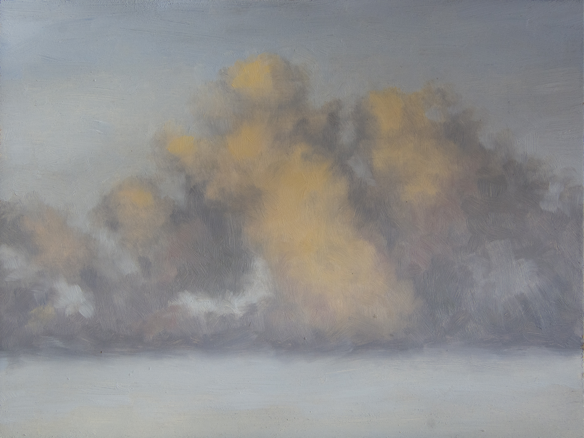 Cloud Study 1. Oil on masonite.  ©  Christina Speed 2017