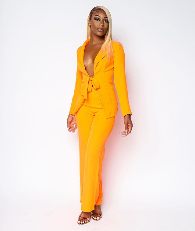 BOSS BABE vibes is definitely what you'll be giving off while rockin' our Boss Babe Suit Set paired with our Lace Me Love Bodysuit in neon orange. How could you not LOVE this look?  Available in store and online.  SHOPBOUTIQUEBEE.COM  4053 Jimmie Dyess Parkway Suite D  Augusta, GA, 30909