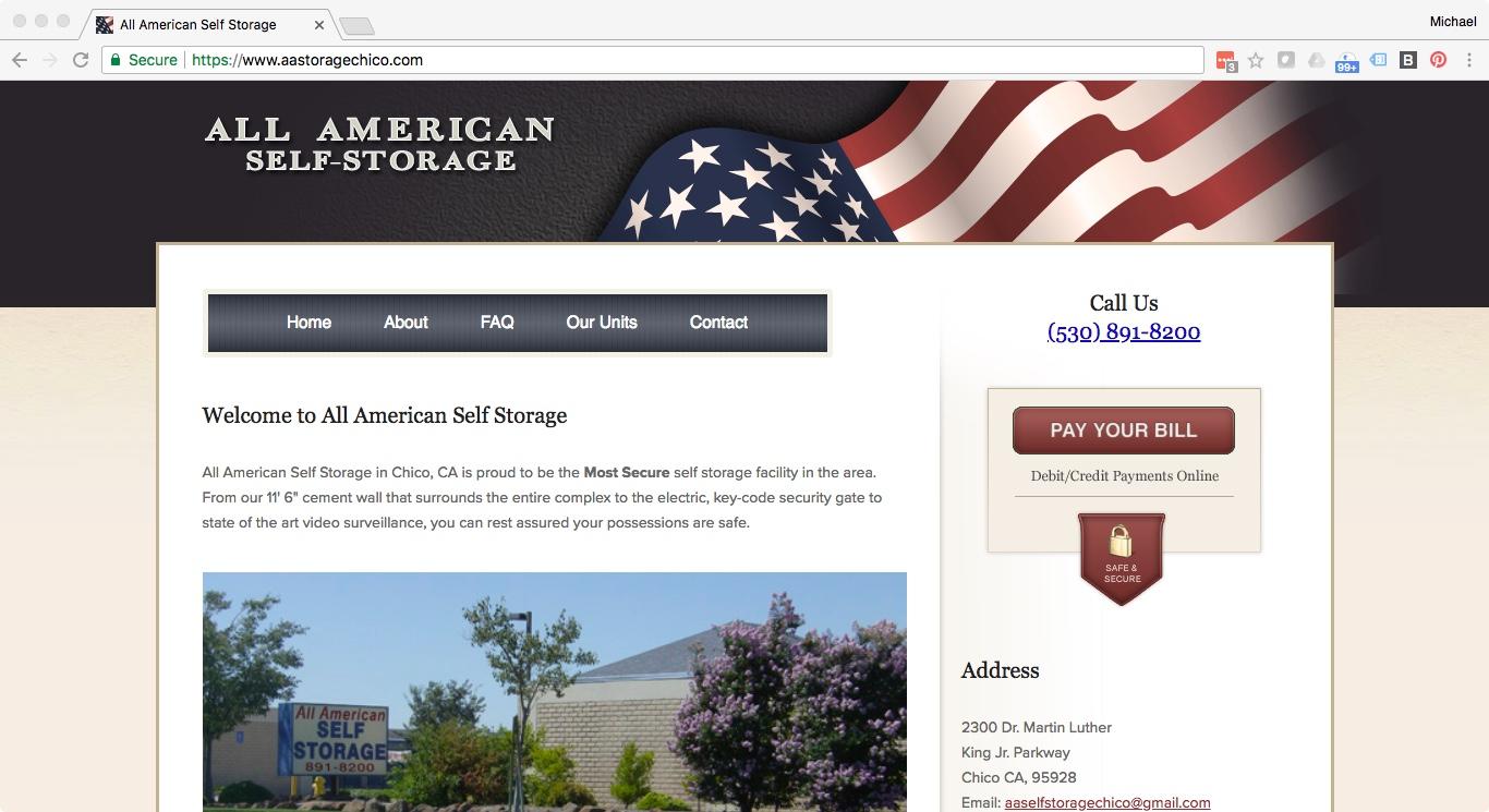 All American Storage  - aastoragechico.com