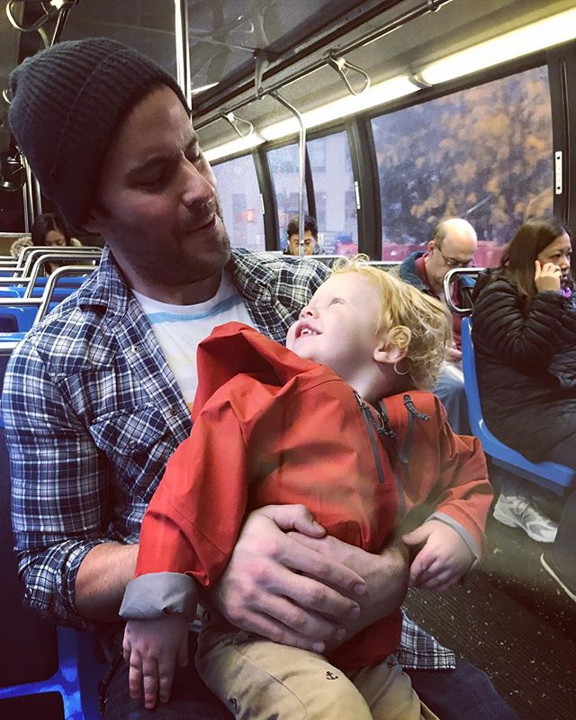 Always a good time with this little guy! #nyc #bus #gingerbaby #notmybaby #fall #nephew #fun #fartsonlap