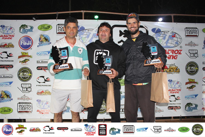 Equipe 3ª colocada:  -  Roney José Moreira Moreira  (Capitão)-  Claudionor Santos - Cesar (Popper)