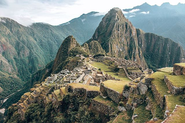 """The """"Lost City of the Incas"""" AKA Machu Picchu was incredible to explore! After hiking through snow capped mountains, high altitude and icy winds we eventually arrived in the jungle and walked along the original Incan trail where we climbed MORE mountains in high humidity. On the 5th day, we woke up at 4am to start the climb to Machu Picchu City. We hiked the uneven, steep stairs for 1 hour and FINALLY arrived at the top with jelly legs! We were the first group in and walking through those gates made every single step to get there worth it. . . #discoversouthamerica #salkantay #southamerica #backpacking #peru  #incredibleplaces #discoversouthamerica #travelmore #lovetotravel #thetravelcouples #travellifestyle #southamericatrip #visitsouthamerica #backpackercouple #onlyinsouthamerica #travelcouple #digitalnomad #worldnomads #incredibleplaces #salkantaytrek #machupicchu #dji #machupicchureservations #salkantaylake #trekking #machupicchu"""