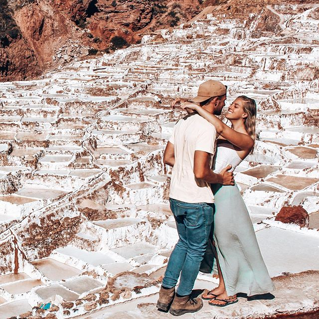 NEW BLOG: I'm sure you've all heard of Machu Picchu, Rainbow Mountain, Laguna Humantay by now…but have you ever heard of Salinas de Maras? We made our way there from Cusco via a local collectivo and spent the afternoon exploring the 5,000 salt ponds! This archaeological masterpiece staggers down the valley in terraces and are so well-preserved. In fact you can even see the keepers of each pond scraping the salt or letting water into their pool by opening a notch in the side wall. Want to know how to get there without a tour? Click on the link in our bio to find out. . . #peru #worldnomads #southamericatravel #discoversouthamerica #experiencesouthamerica #ig_peru #speechlessplaces #ourlonelyplanet #igersperu #wondermore #backpacking #experienceperu #cusco #salinasdemaras #saltmines #visitsouthamerica #thecoupletravellers #southamericatrip #incredibleplaces #travellifestyle #travelmore #lovetotravel #sacredvalley
