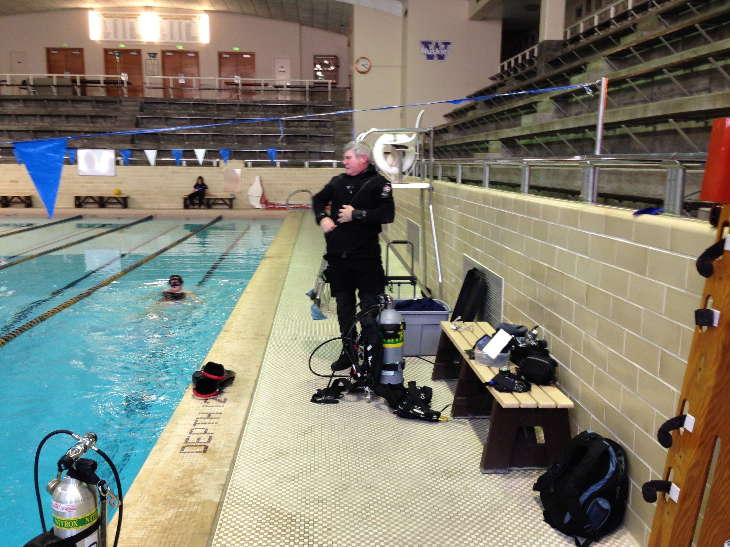 Our diver tester - David McLean