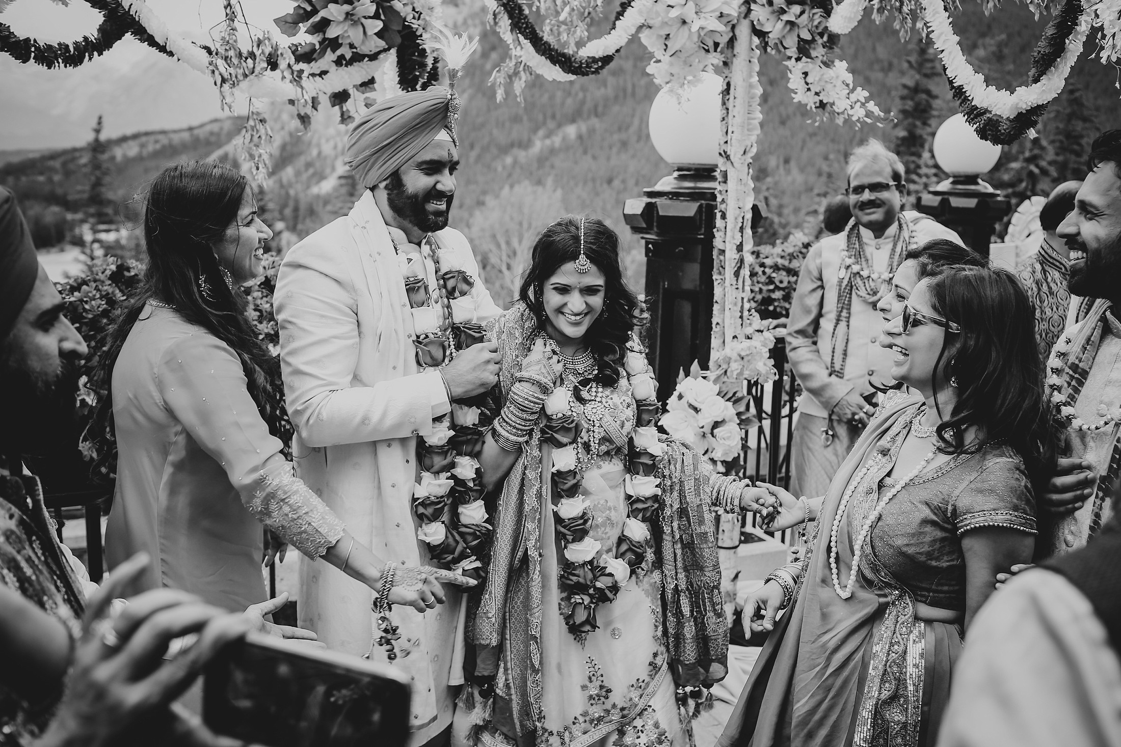 July6.RadCharan2974_Note Photography Photojournalistic Wedding Ben Nelms Documentary Photography Award Winning Rocky Mountain Banff Springs Hotel Fairmont Punjabi Indian Ceremony Baraat.jpg