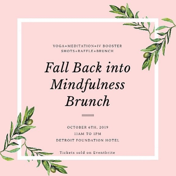 Did you get your tickets yet?! This Sunday, October 6th at 11 a.m. join an amazing community of women with an exquisite brunch, yoga flow, guided meditation and to help raise funds for @alternativeforgirls. 💕 . Hosted by @namaste_jurgita & @equanimitytribe at @detroitfoundationhotel, this is a beautiful event intended to help you connect with yourself and the community around you! 👯‍♀️ . 100% of raffle ticket sales goes directly to @alternativesforgirls Make a difference in a young girl's life by attending Mindfulness brunch! Get your raffle tickets from @namaste_jurgita and @equanimitytribe links in their bio! ✨ . Raffle Sponsers: @socivastudios @jabsgym_em @theaestheticmethod @giveinkcourage @ayurvedahydration @bronzedbeautyservices @dreamfuelco @equanimitytribe
