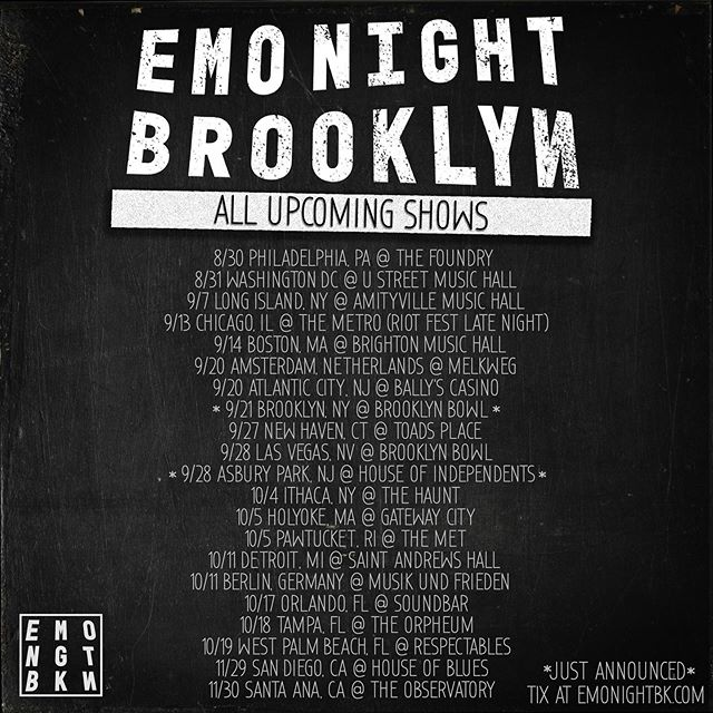🚨 New #EMONIGHTBK shows 🚨 Where will you be partying with us? #LFG! 🖤🤘