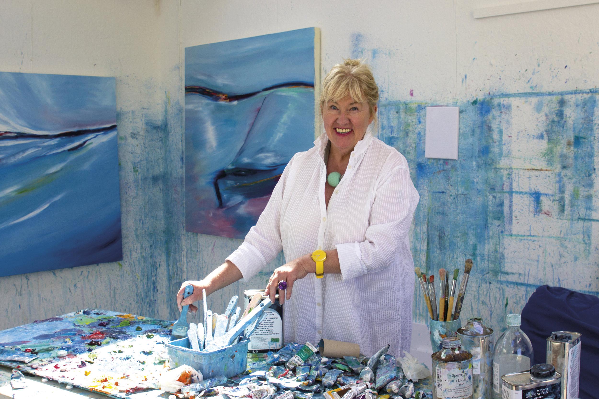 Artist Majella O'Neill Collins (55) lives on Sherkin Island
