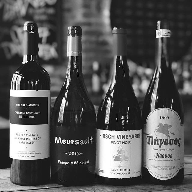 🏆 We can't handle these pours by ourselves. Give us a hand?  The Hackney Road Chalkboard as of today, Saturday 16/2/19, includes:  2015 'La Perlée' | Sylvain Dittiere 2015 Riesling 'Pfaffenberg' | Clemens Strobl 2012 Mersault | François Mikulski  _ 2015 Malvazija | Čotar _ 1999 Xinomavro | Chateau Pegasus 2016 Pinot Noir | Ata Rangi 2016 Cabernet 'Red Hen' | Ashes + Diamonds 2016 Pinot Noir 'East Ridge' | Hirsch  #onebottleonly