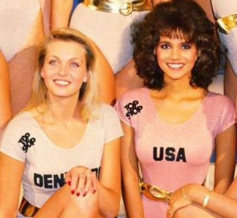 """Pia, Marcus´mother, placed 2nd in Miss World 1986. Halle Berry, who appears on the right as """"Miss USA"""", placed 6th."""