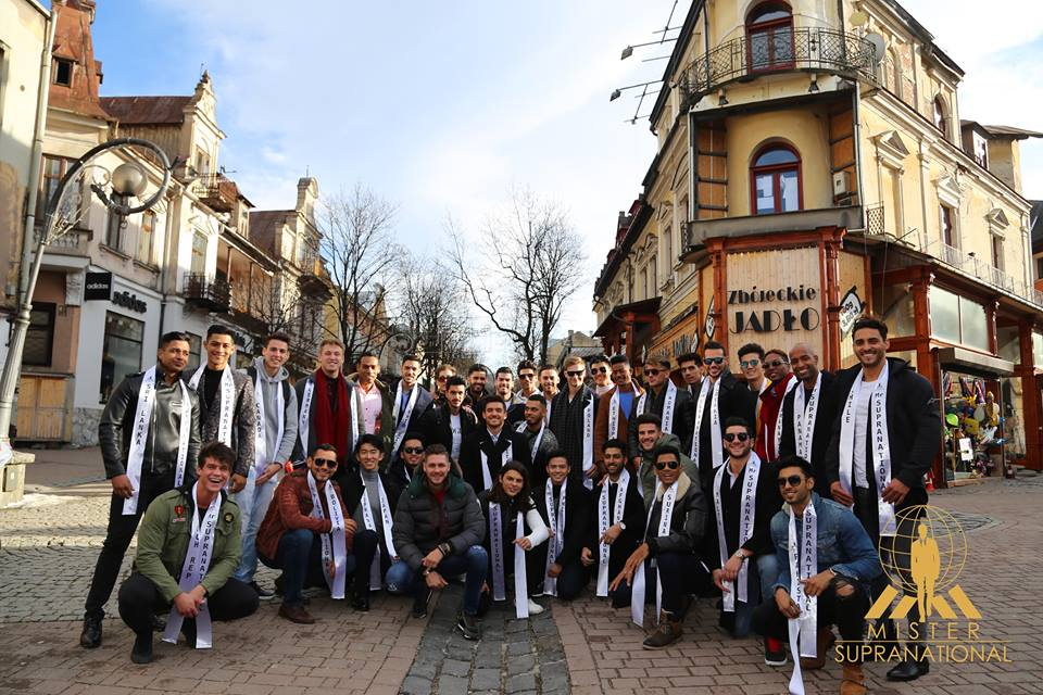 The 2017 Mister Supranational candidates in Zakopane (photo Leonardo Rodrigues)