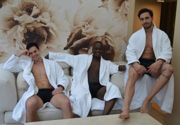 Thailand, Togo and Venezuela enjoyed the spa after their photo session.