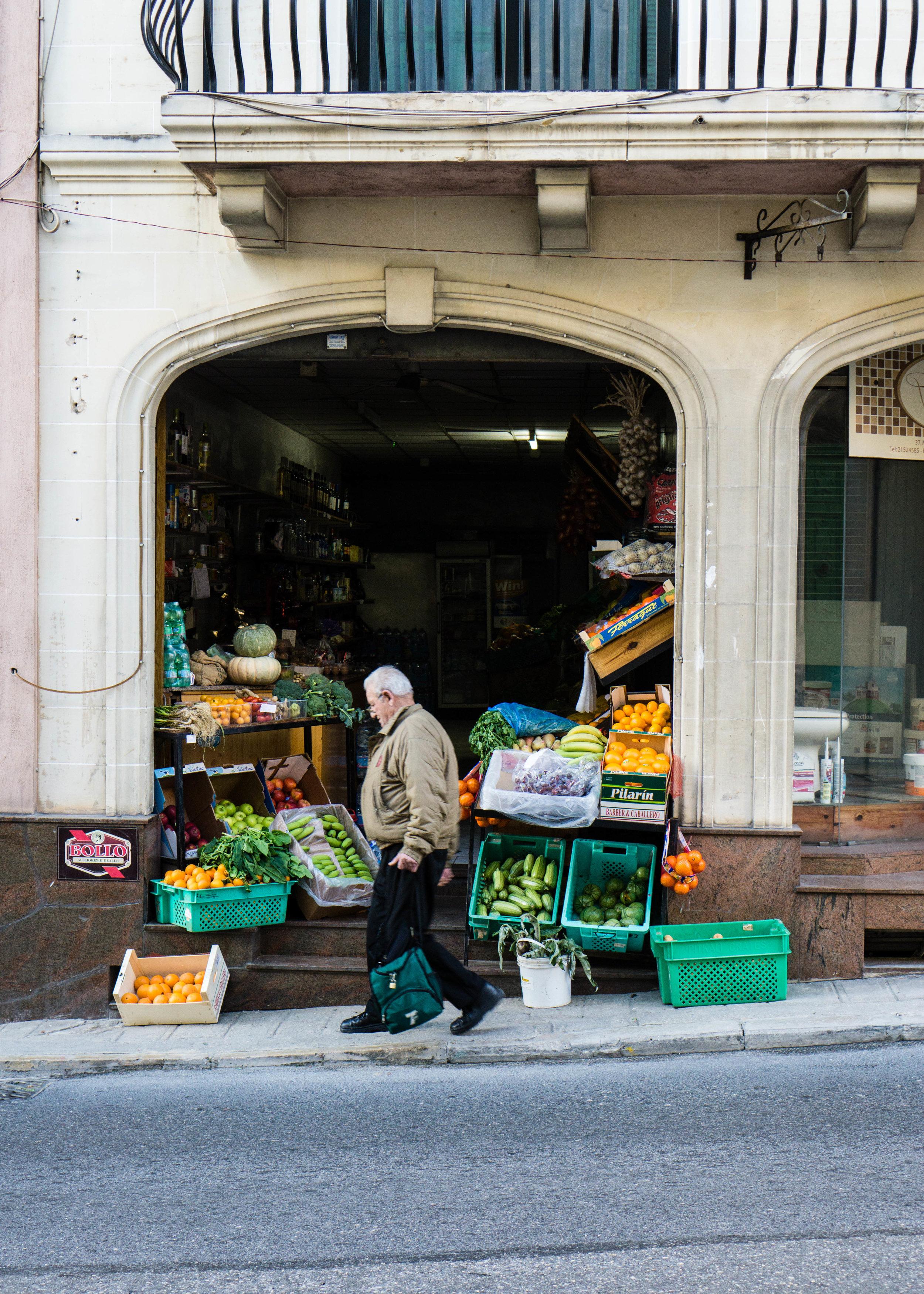 Produce store, Malta
