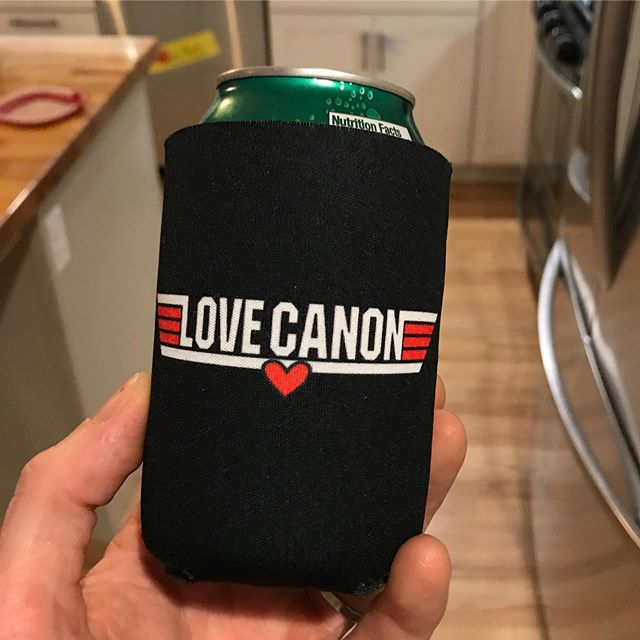 Koozies! We know you've been asking. Available on the merch table at all Love Canon shows starting this weekend. Stickers coming soon too... 🍻