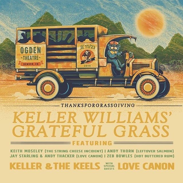 Looking forward to getting back to Colorado for this ripper! Can't wait to hang with our pals @kellerwilliams @larrykeel and @_thornpipe_ too. And Jay & Andy will be joining KW for a Grateful Grass set too. Party on! See ya in November. 🔥🍁😎✌🏼🎼