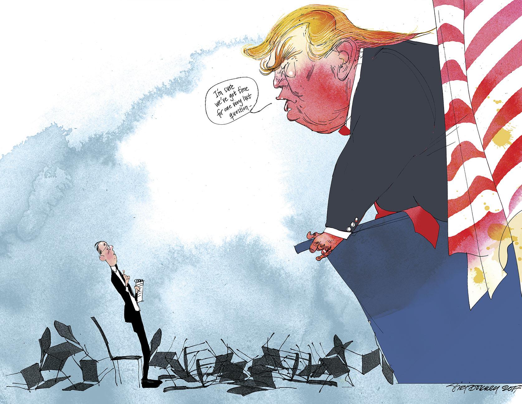 Trump vs the press, 2017