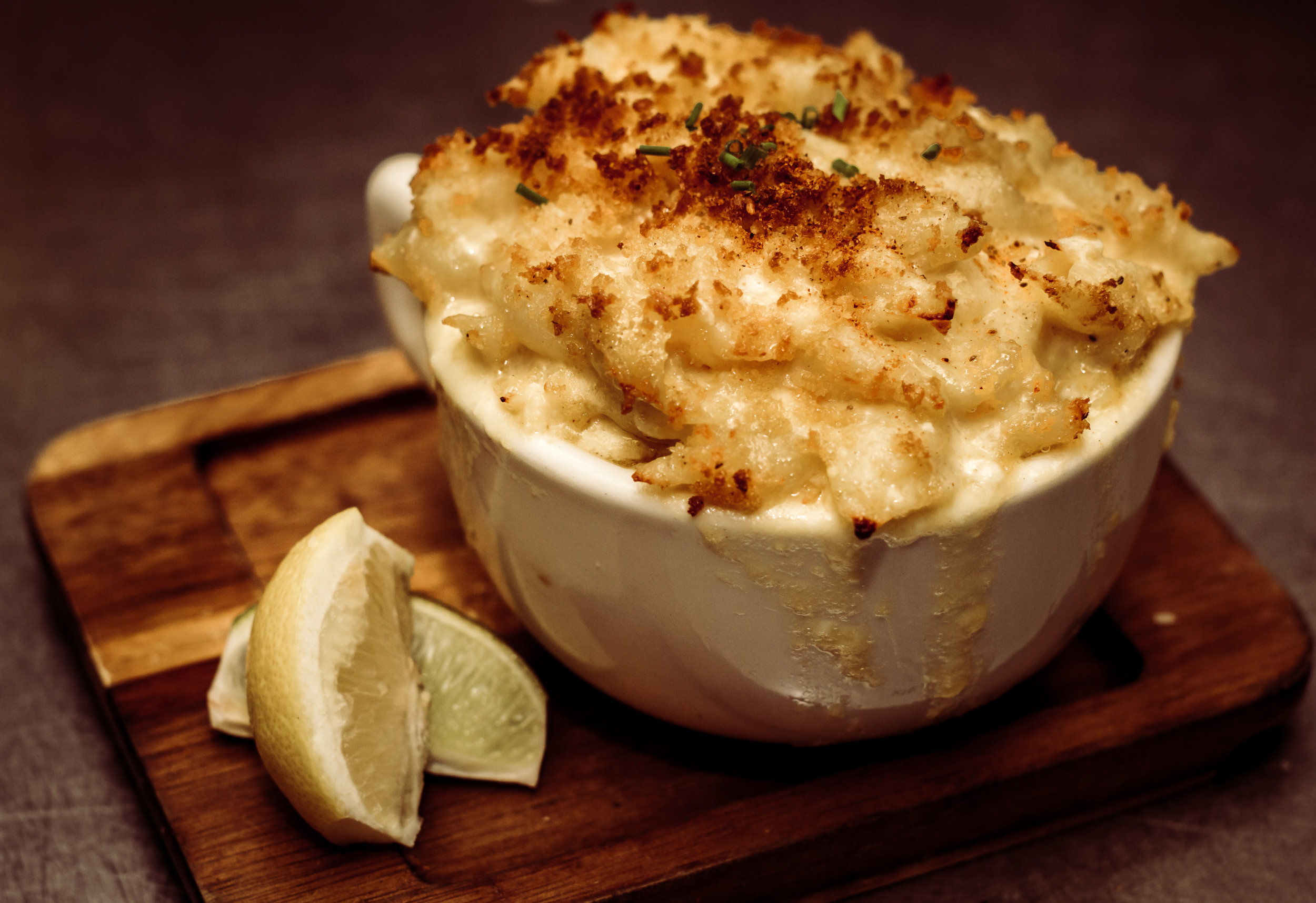 "Shrimp & Crab Mac ""N"" Cheese"