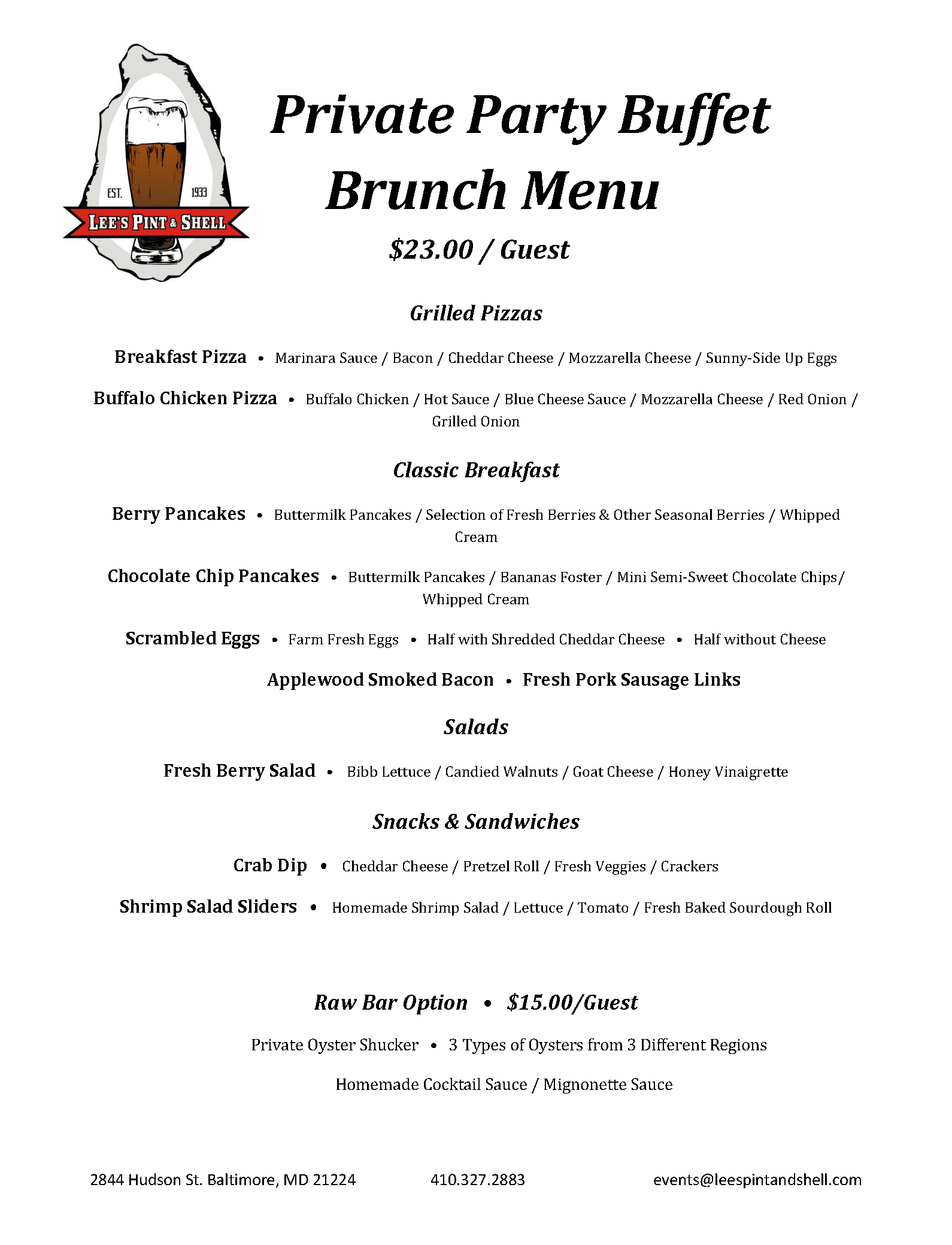 Private Party Brunch Buffet Menu.png