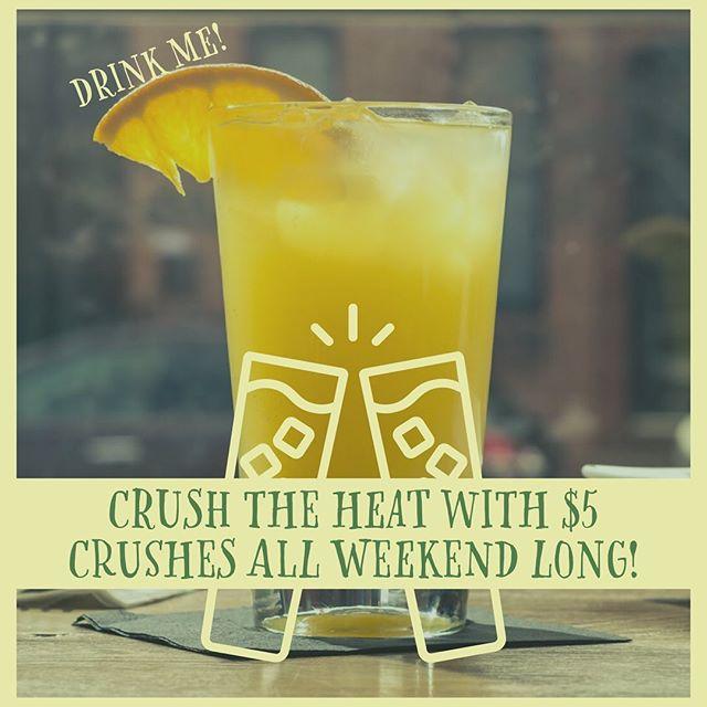 CRUSH THE HEAT with $5 SMIRNOFF CRUSHES ALL WEEKEND LONG! #smirnoff #smirnoffcrushes #crushtheheat #cheerstothefreakinweekend🍻 #baltimoresummers #holyheat☀️ #beattheheatatlees #canton #bmore #leespintandshell