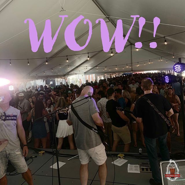 We are always humbled by the love you show us and today is no different! If you're not here yet, come see us! Its only $10 to get in to see two great bands and FREE OYSTERS!! #headrush #crushingday #shuckininthestreet #thankyou #leespintandshell