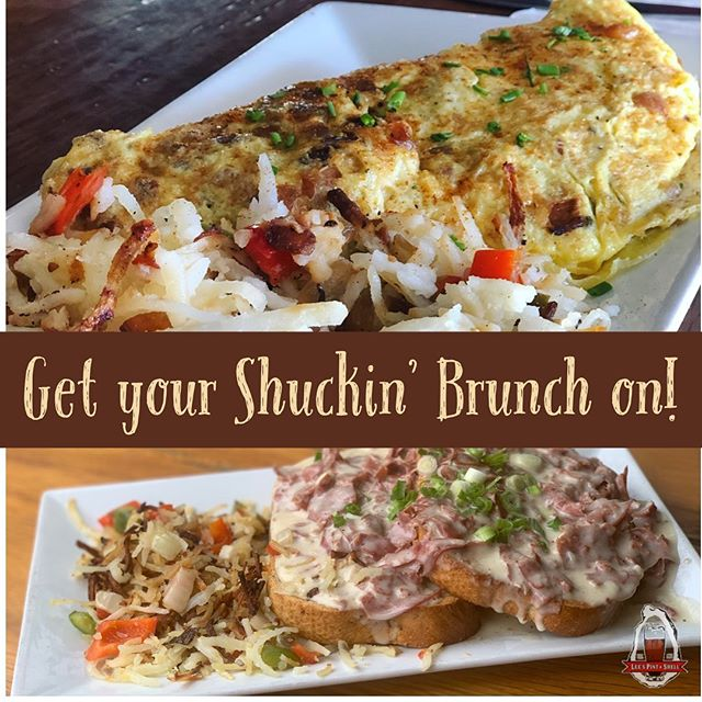 Had too much fun yesterday? Well, come get some Shuckin' brunch! #recovery #sundayrestday #toomuchshuckinfun #shuckinainteasy #thankyou #brunchtime🍳 #leespintandshell