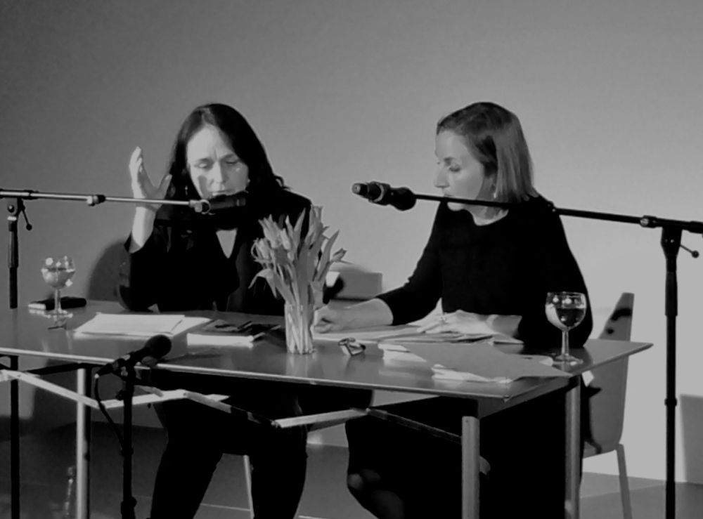 Ellen Hinsey r  eading and dialogue   with Katharina Narbutovic;DAAD Gallery,Berlin, 2017