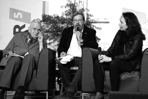 Internationale Literaturfest Poetische Quellen :   Tomas Venclova and Ellen Hinsey with   Holger Ehling,2018