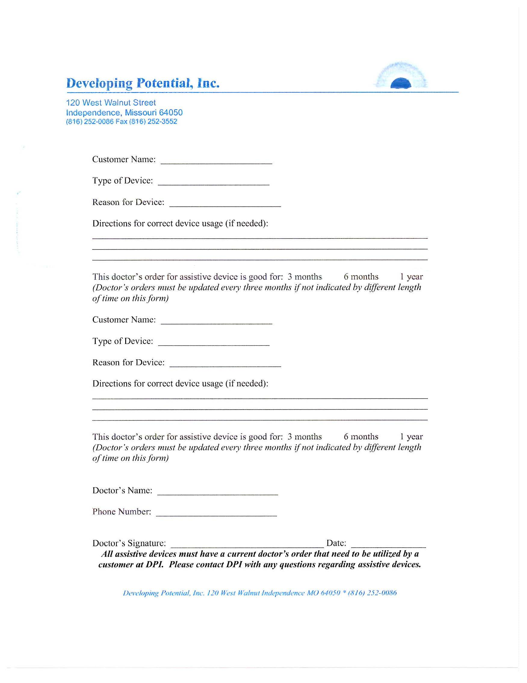 DOWNLOAD DPI Assistive Device Form
