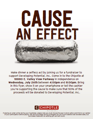 Help us raise funds on July 26th!