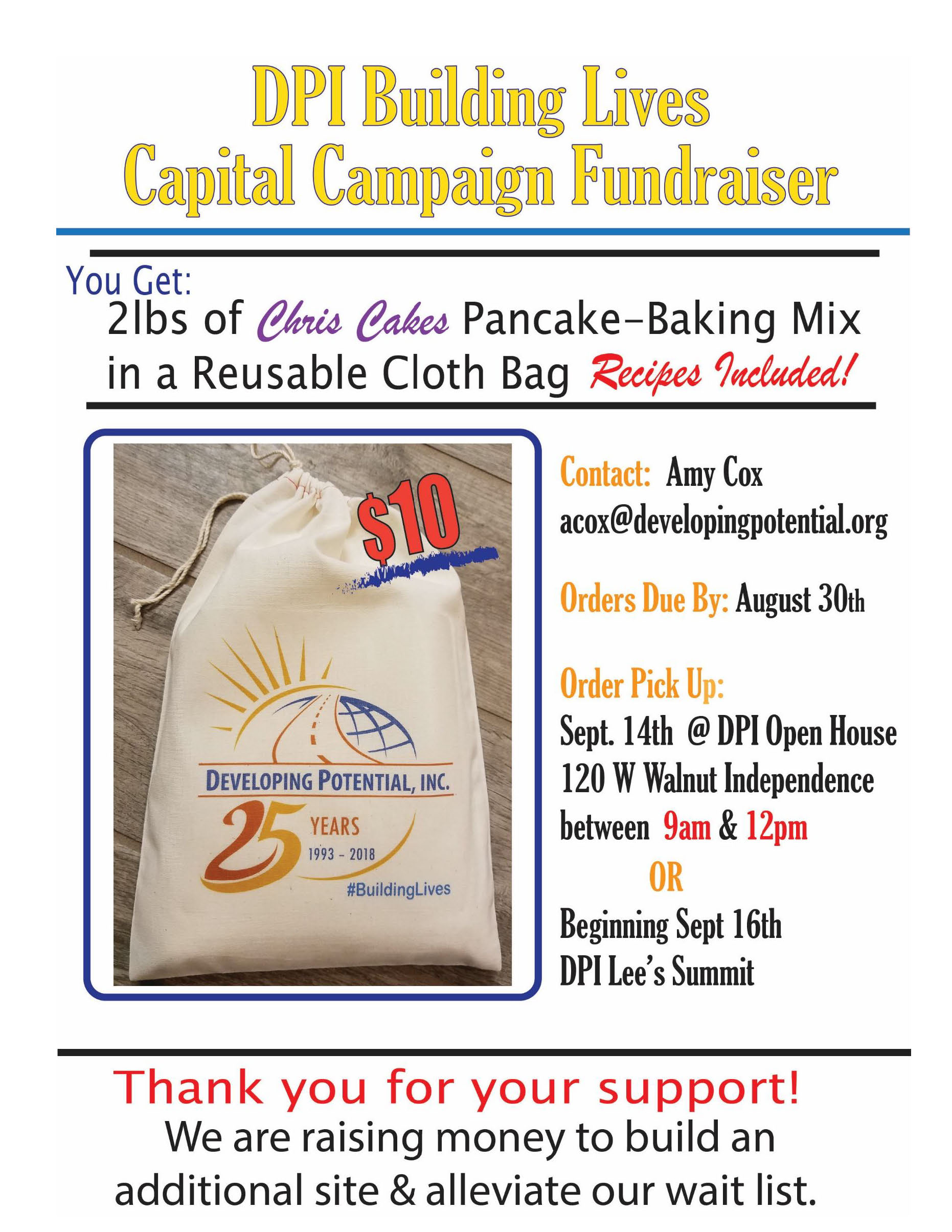 DPI Chris Cakes Flyer Download