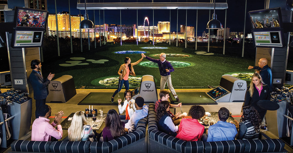 TopGolf Las Vegas is an exciting and engaging place for beginner golfers and low handicappers alike.