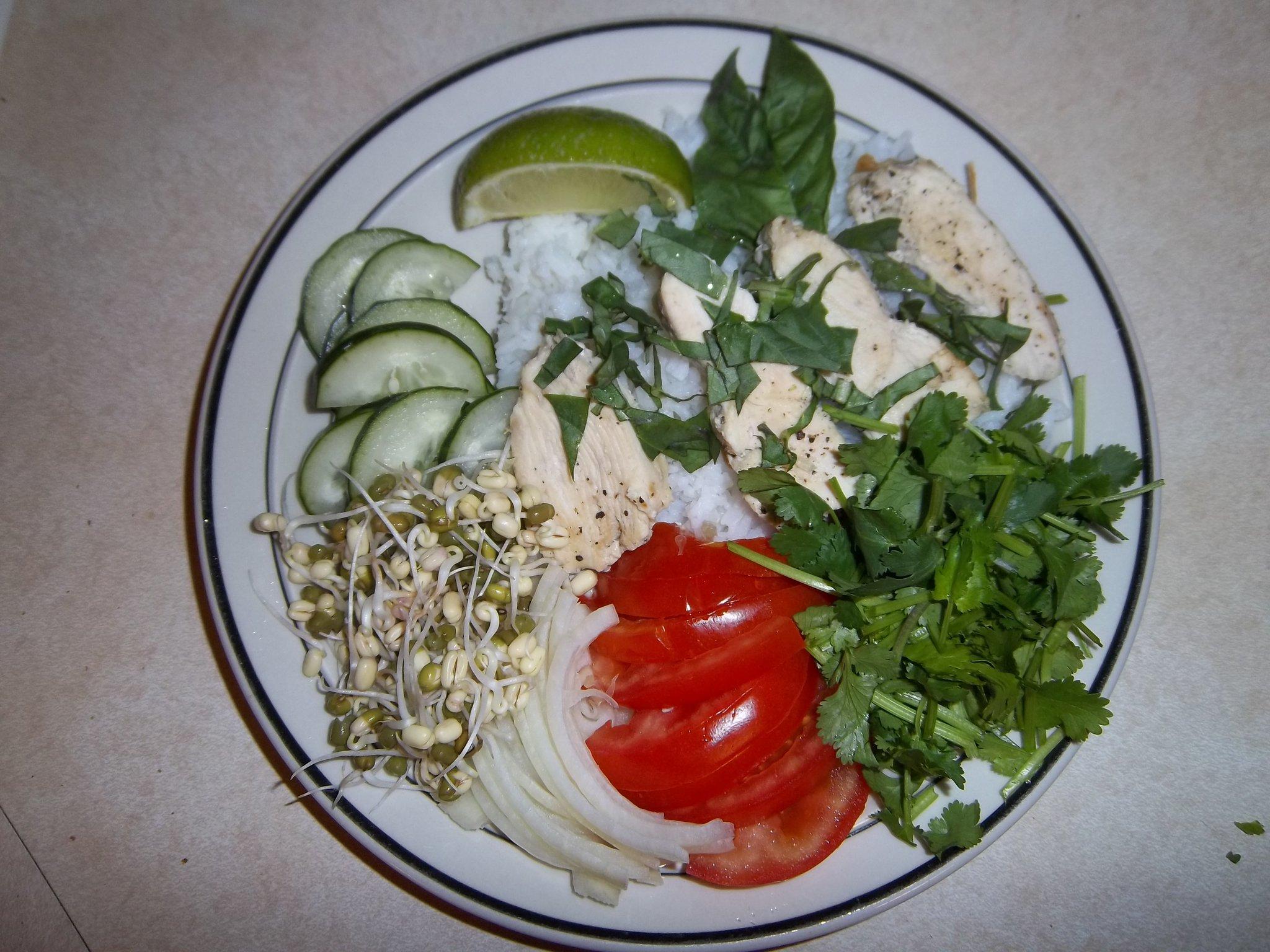 Basil Chicken with veggies