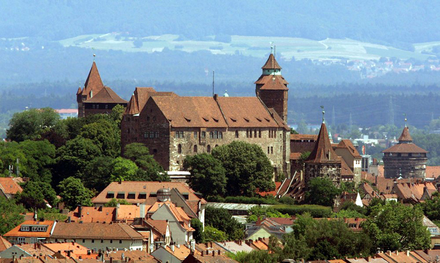 The Nuremberg Castle as seen during Taylor Anne Smith artist workshop in Germany