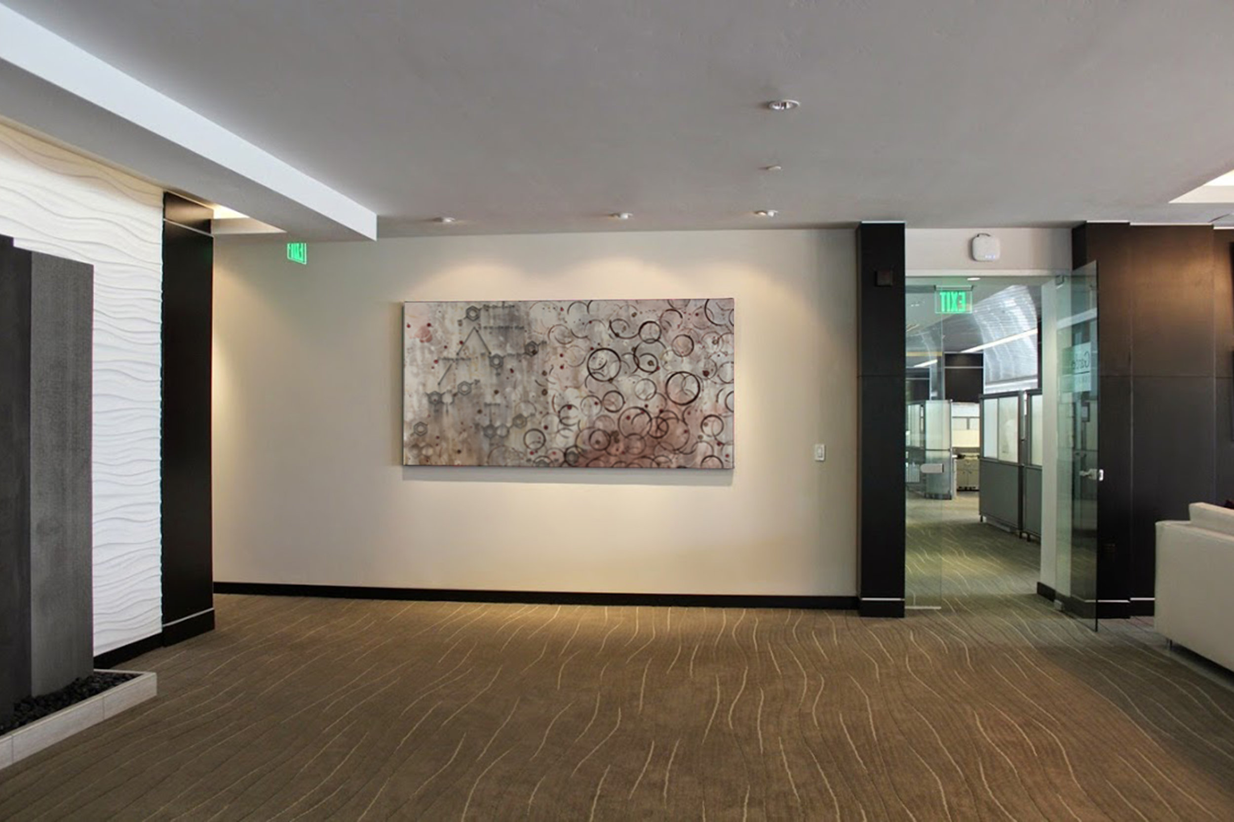 Taylor Smith Chemical Still Life painting hanging in corporate art collection