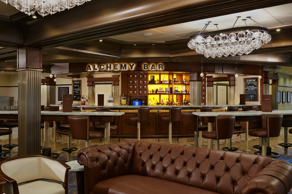 Carnival Alchemy Bar with artwork by Taylor Smith